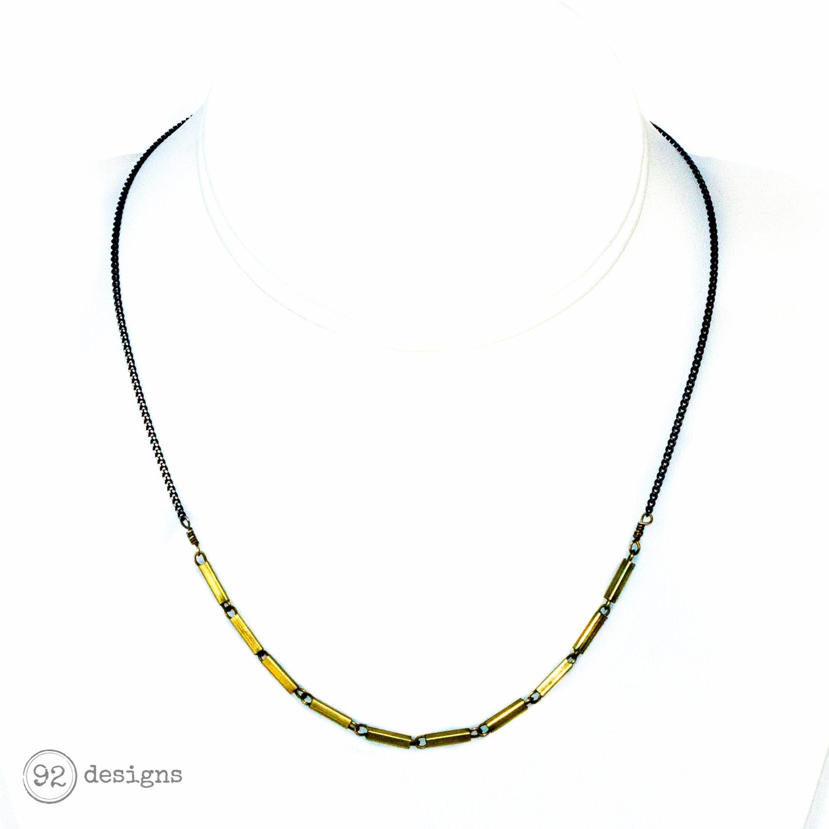 Brass Bars Necklace