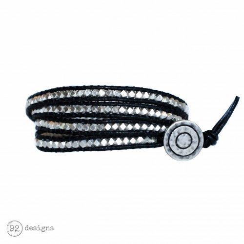 Pure Fine Silver Wrap - Black