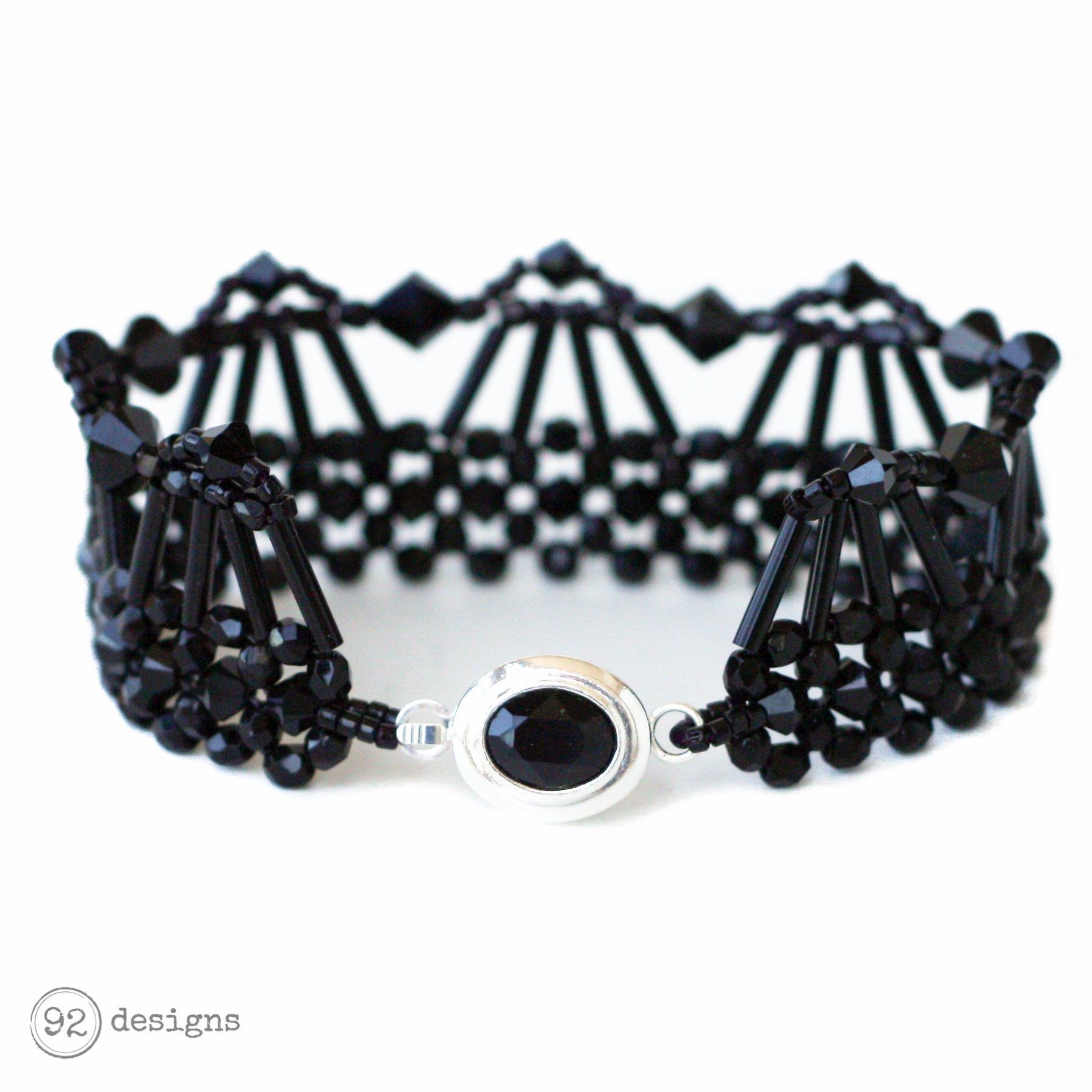 Art Deco Beaded Bracelet