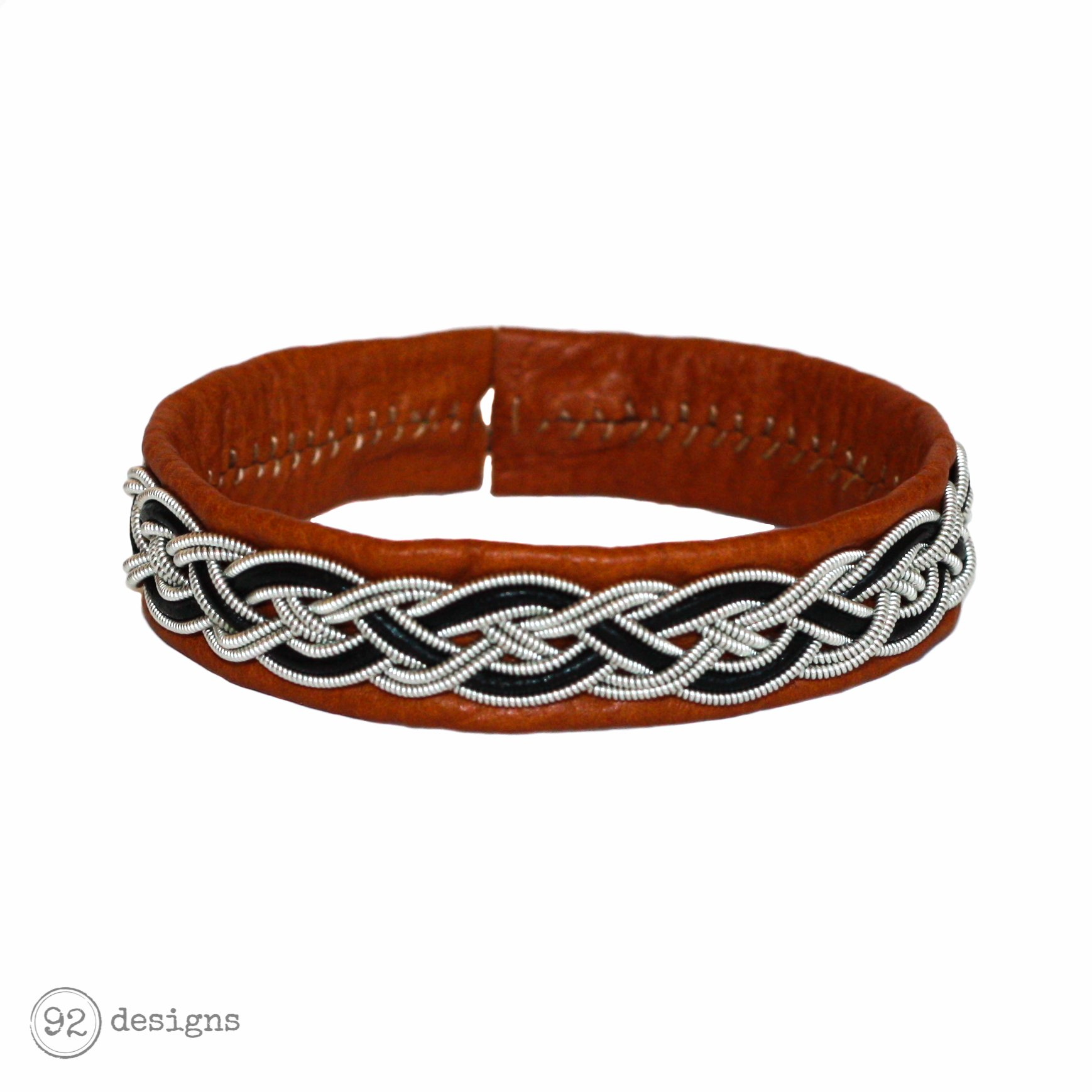 Braided Metal - Black - Cognac