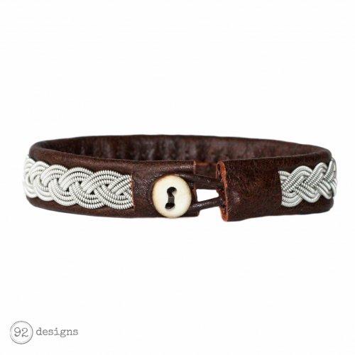 Braided Metal - Sierra (brown leather) - Back