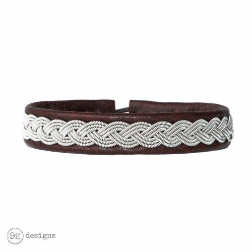 Braided Metal - Sierra (brown leather) - Front