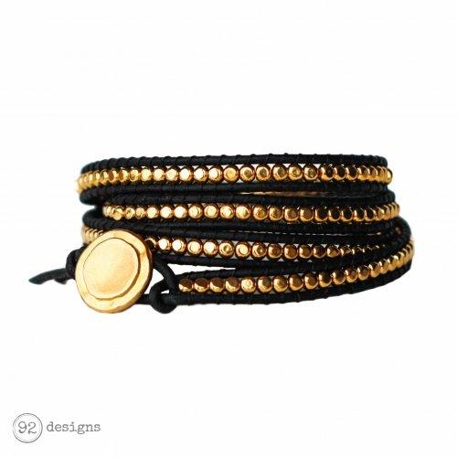 Sleek Gold Wrap - Black - Front