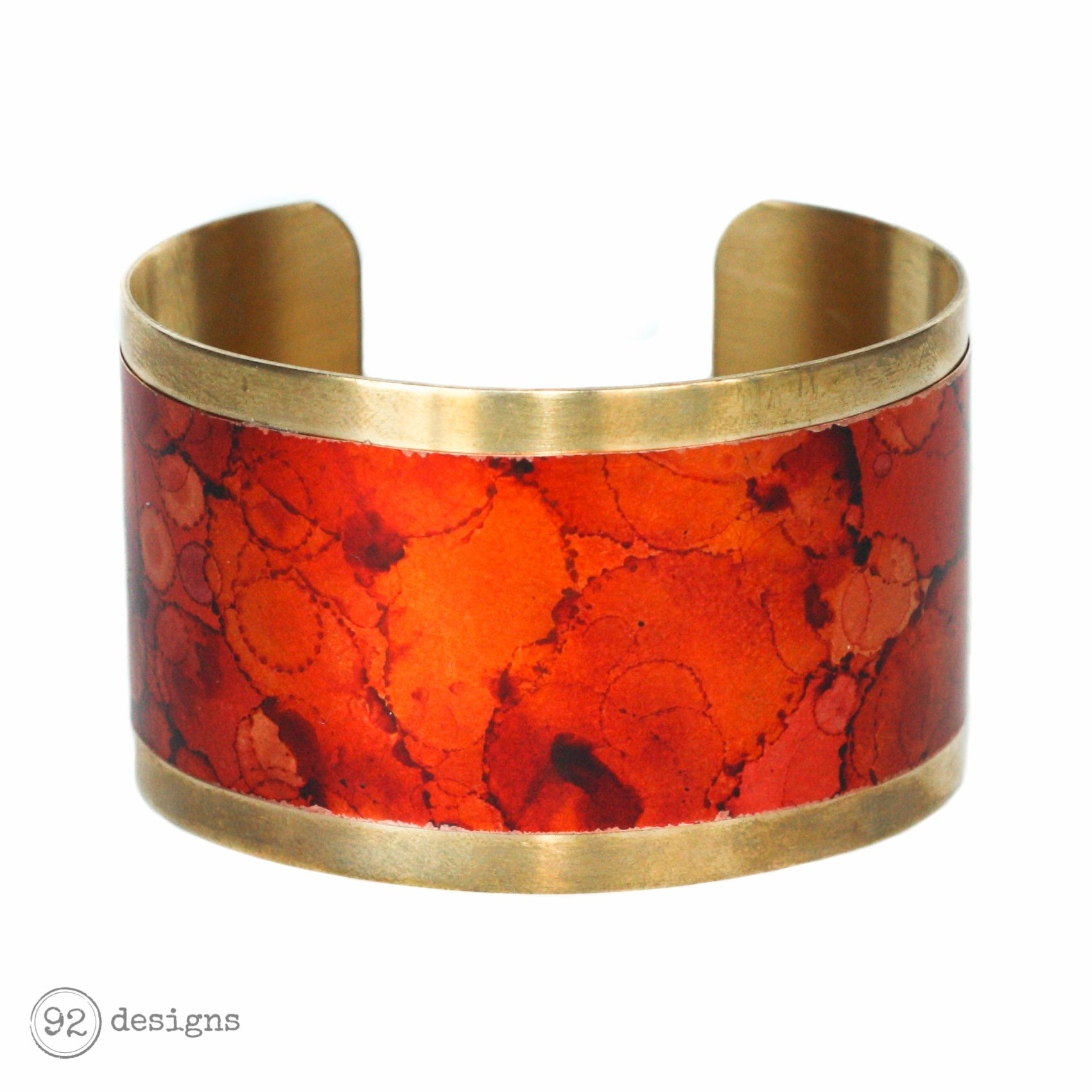 Brass and Copper Cuff - Autumn - Tilt
