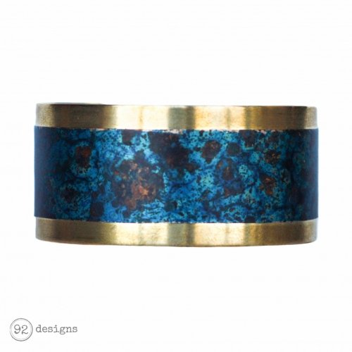 Brass and Copper Cuff - Lagoon - Front