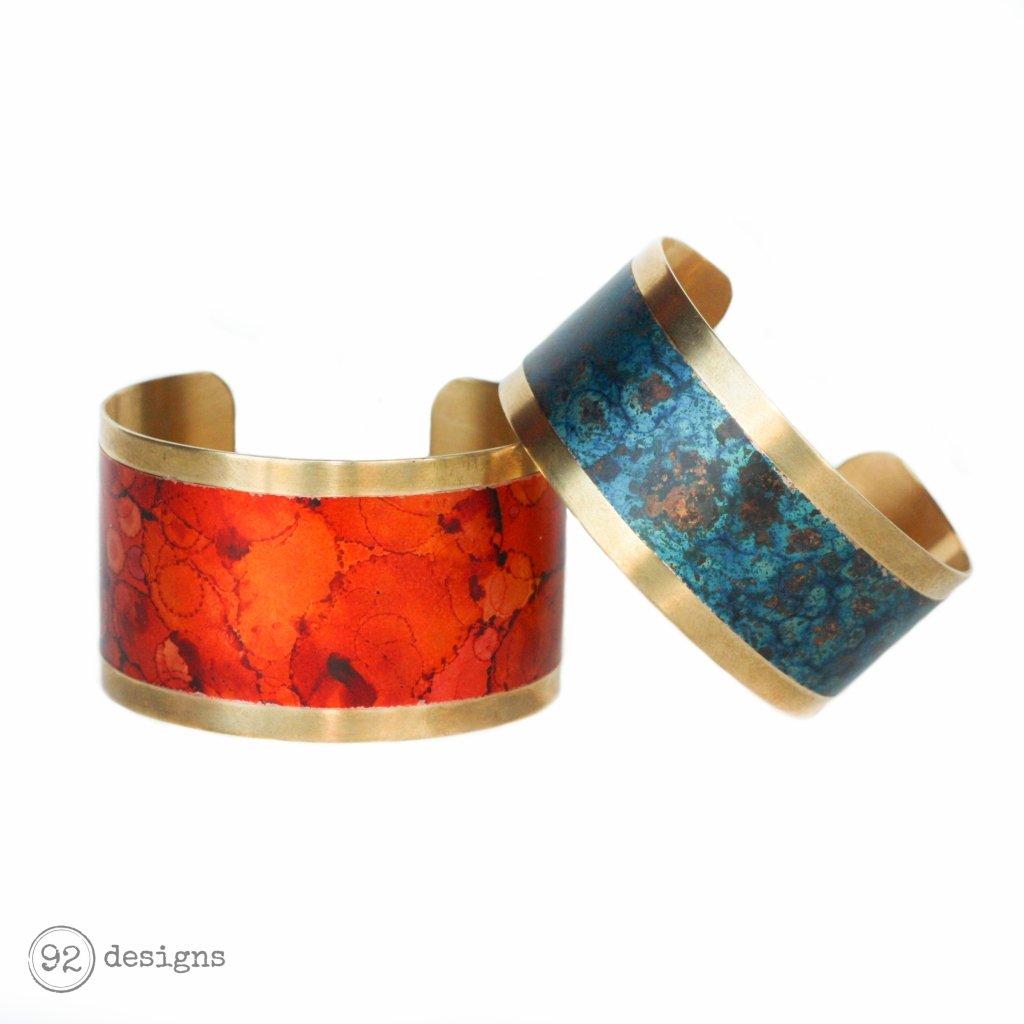Brass and Copper Cuffs