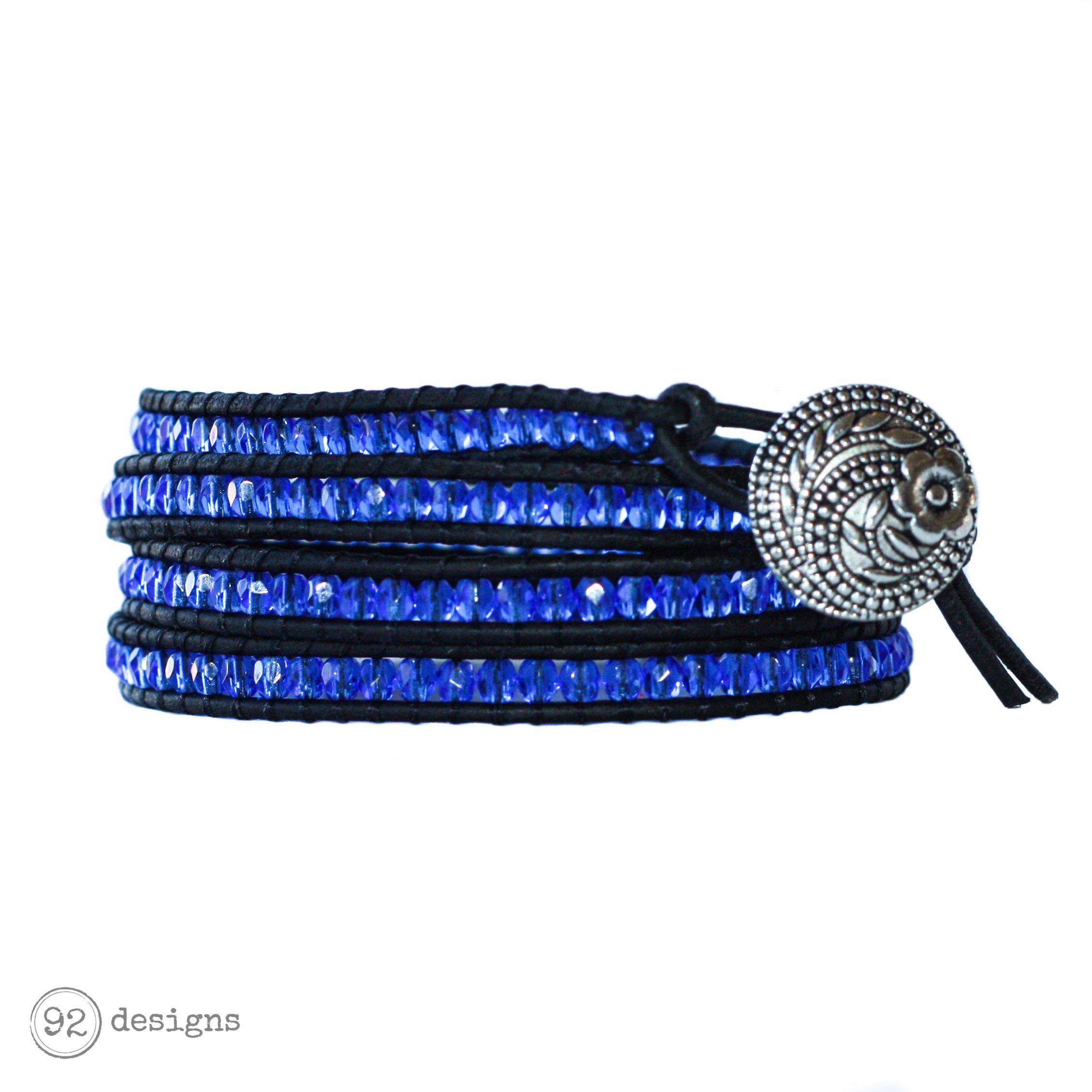 Glass Wrap - Sapphire - Black