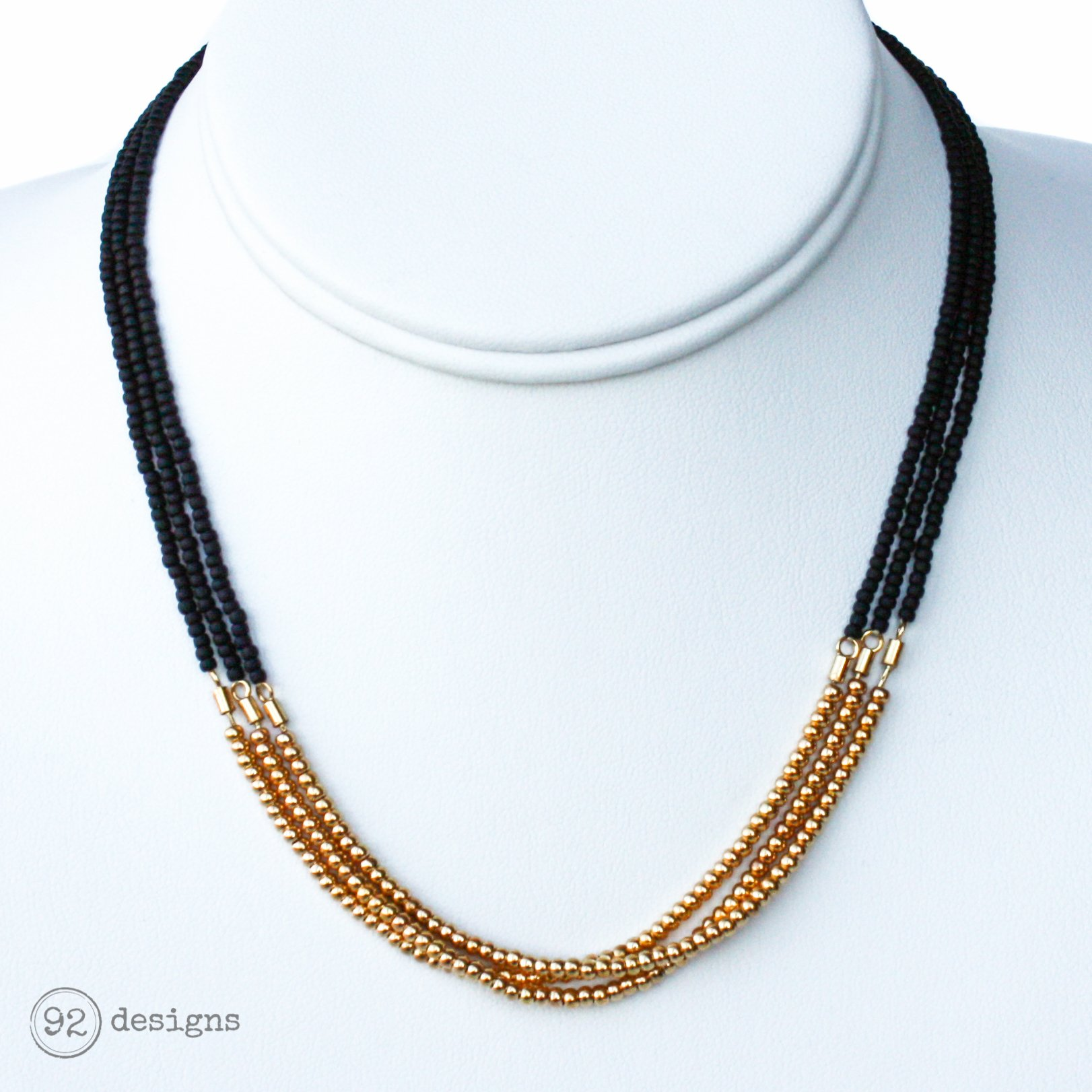 3 Strand – Gold Necklace – 92 Designs | Handcrafted Modern Jewelry