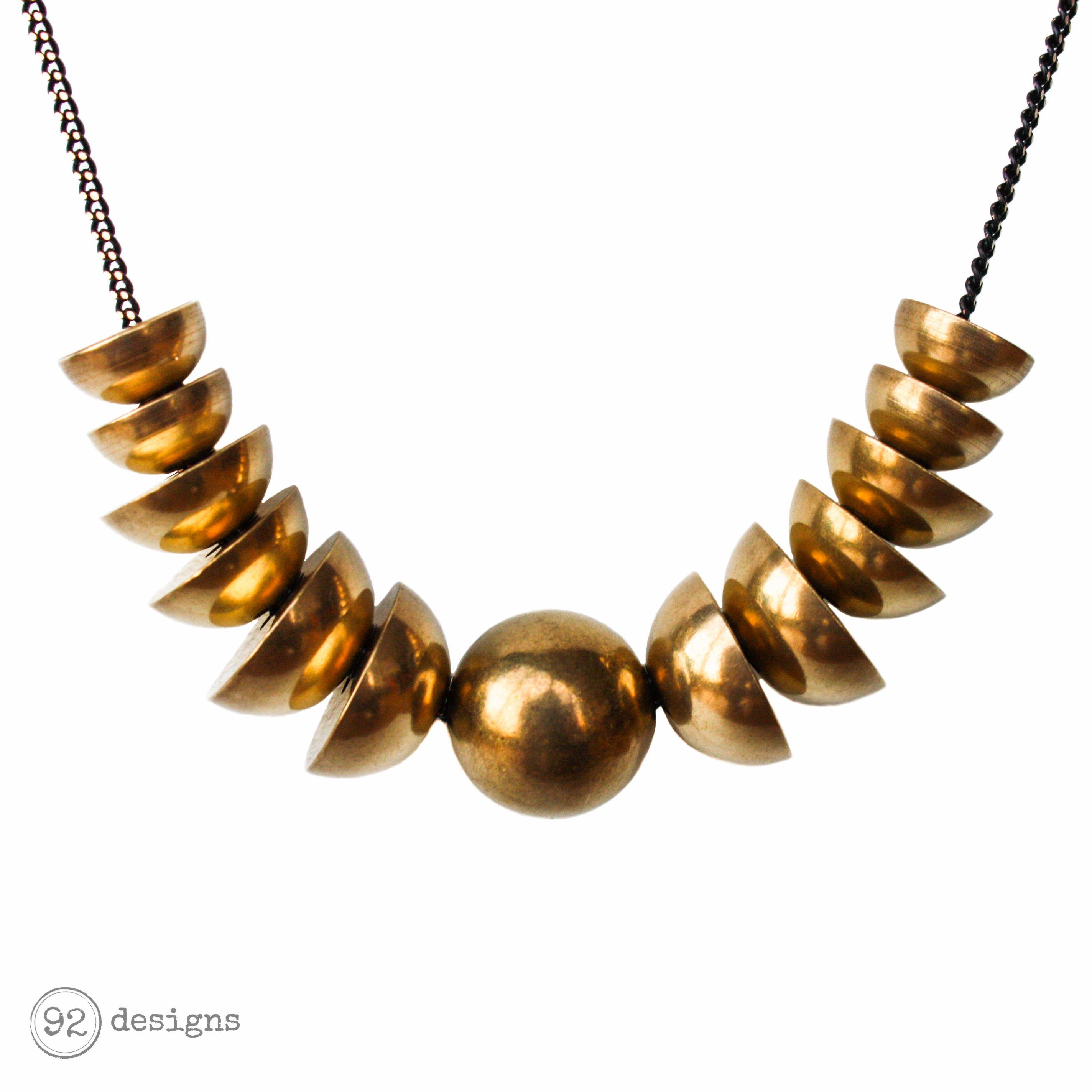 Half Spheres Necklace - close