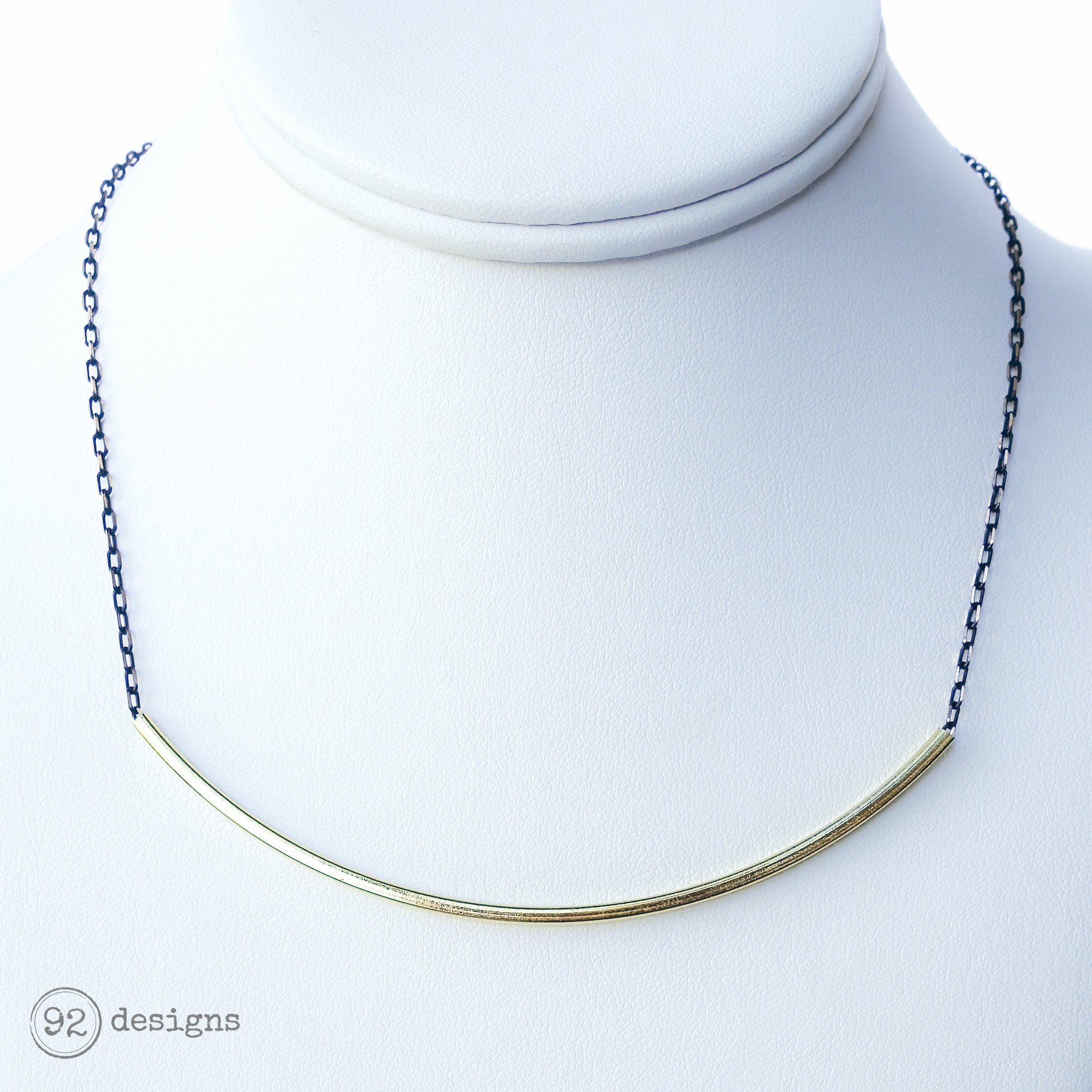 Gold U Necklace