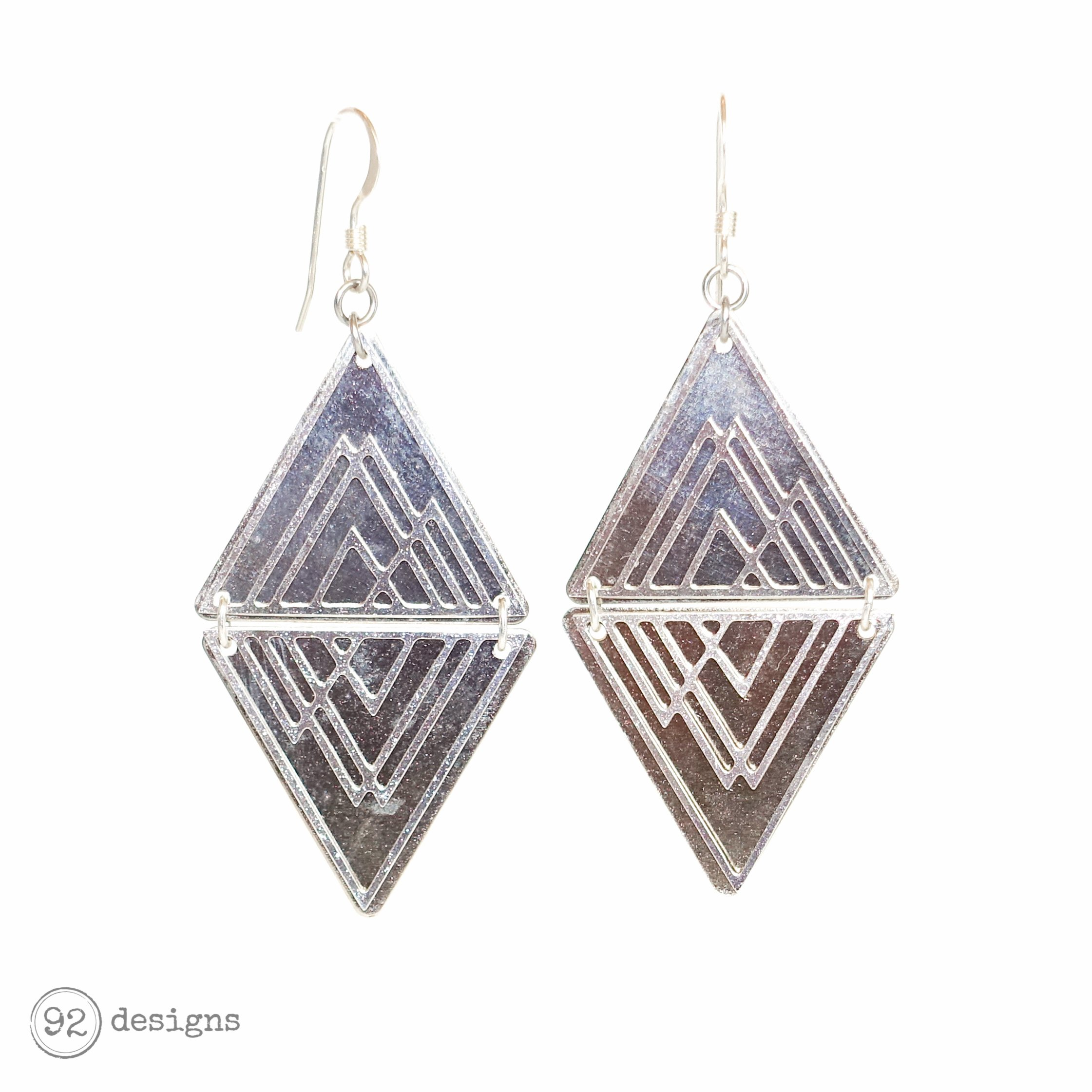Mountain Layered Triangles - silver