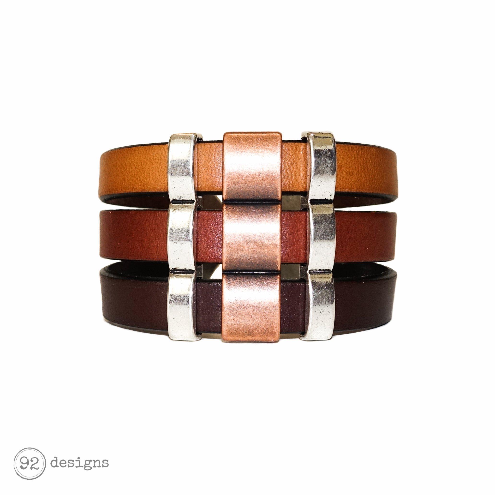 Triple Leather Cuff
