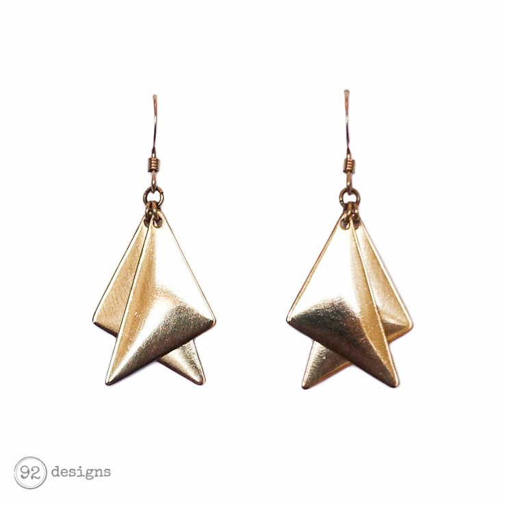 Layered Right Triangles - Brass