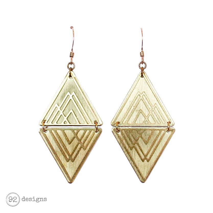 Mountain Layered Triangles – gold