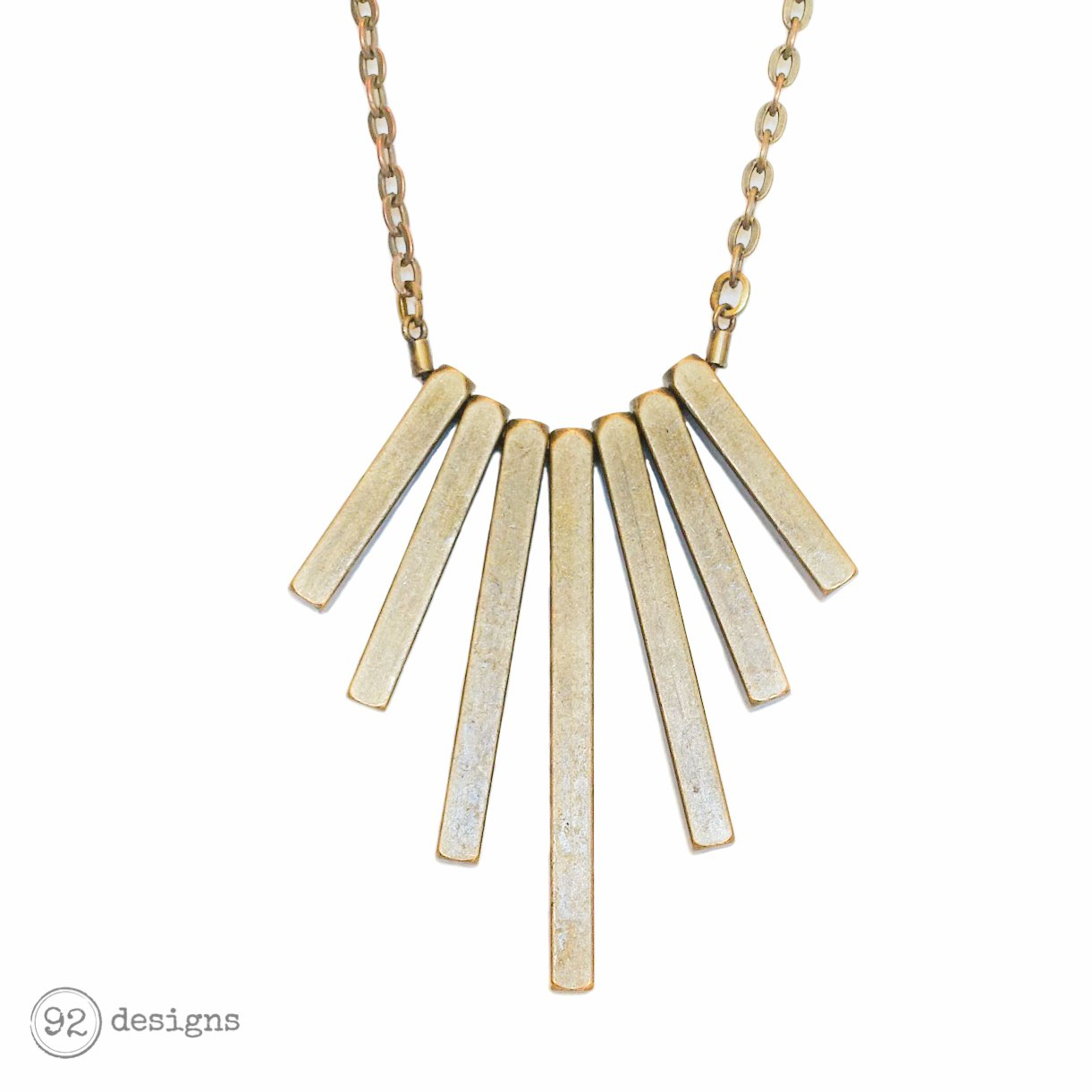 Gold Rays Necklace – 92 Designs | Handcrafted Modern Jewelry
