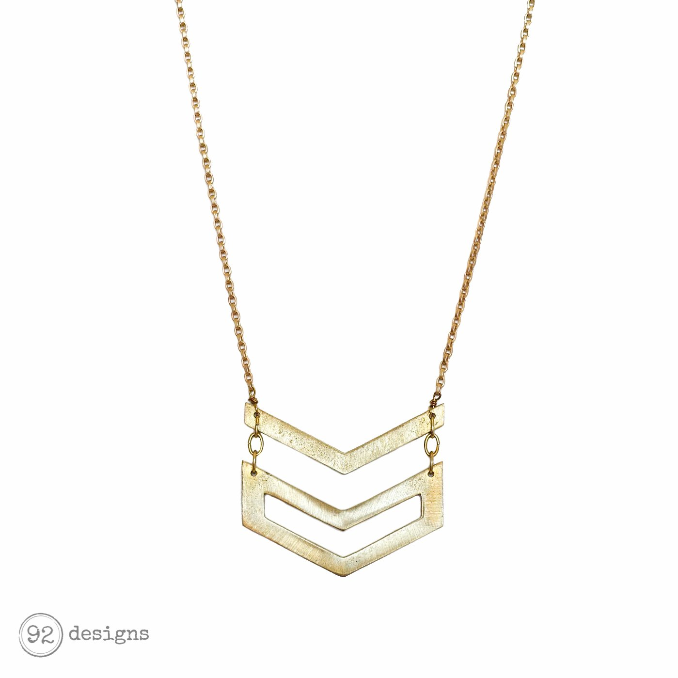 Double Chevron Long Necklace