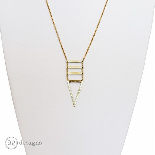 Wire-Wrapped Geometric Necklace
