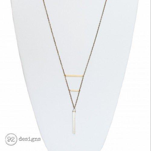 Brass Ladder Necklace