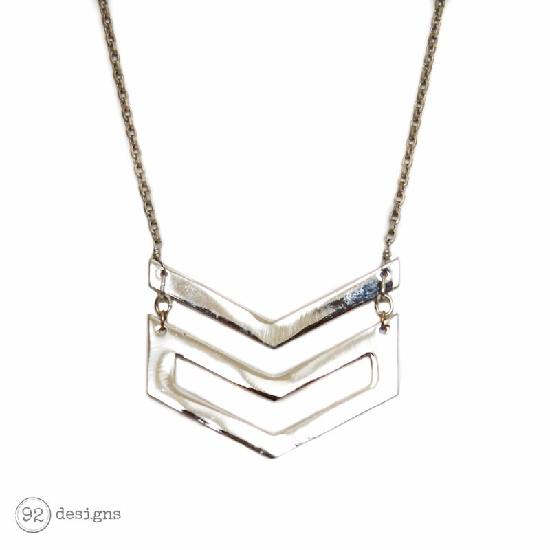 Silver Double Chevron Necklace – 92 Designs  3c57198867
