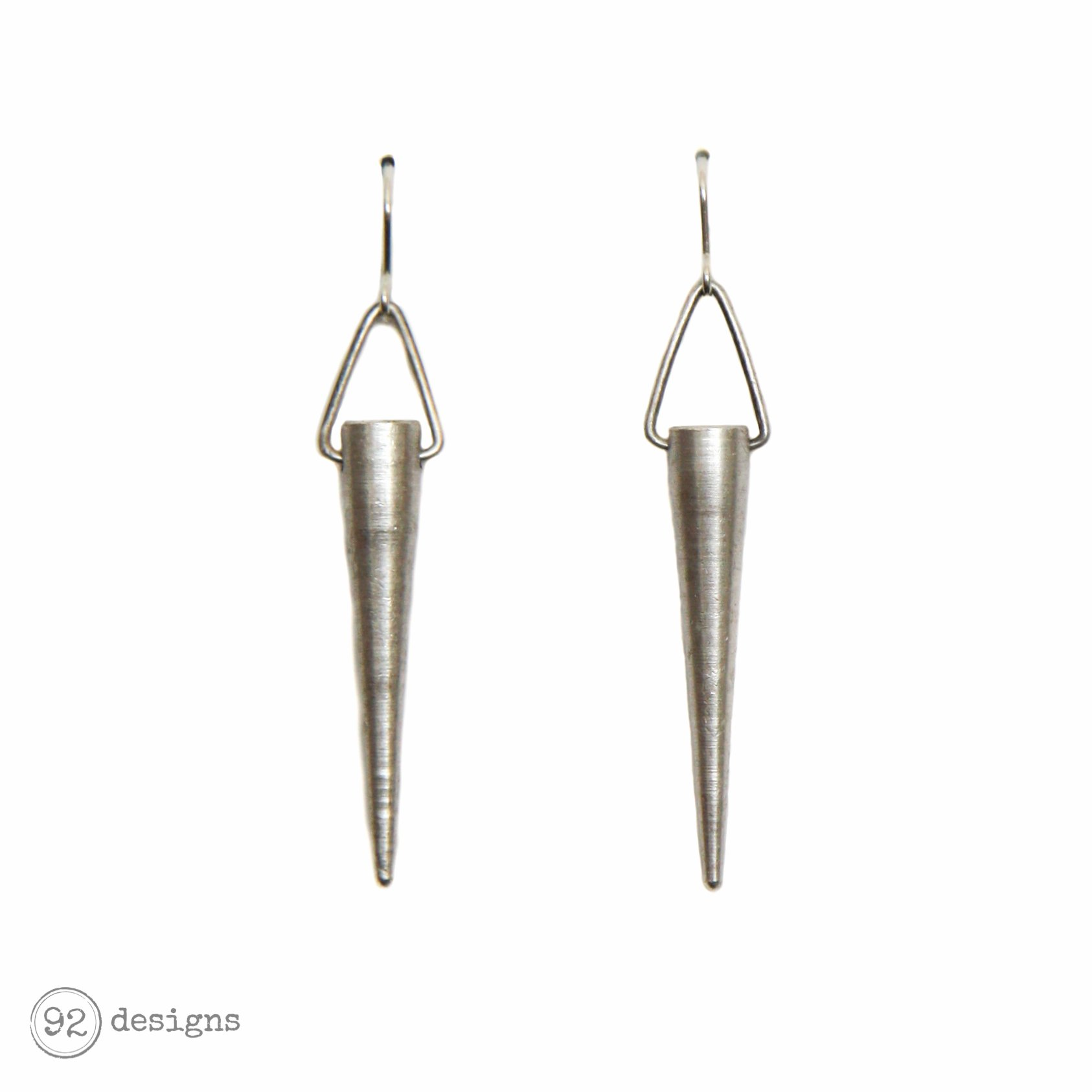 Antique Silver Spikes - earings