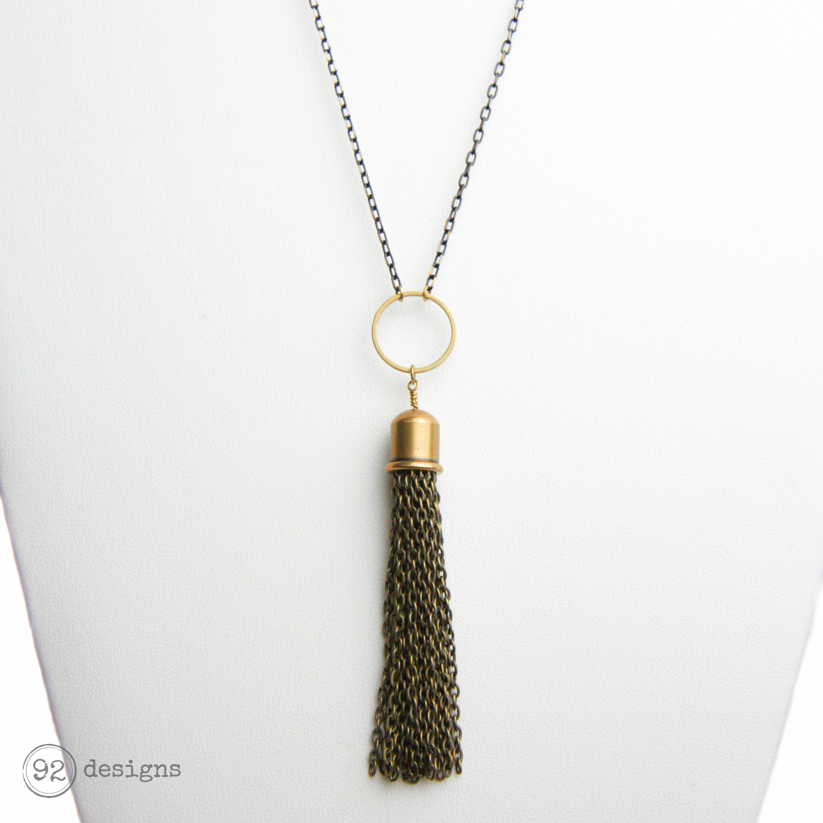 jewellery fullxfull anemone il mica pendant necklace minimal brass peet gold products simple flower modern floral